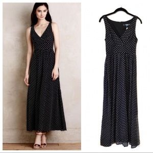 NWT Anthropologie Eva Franco polka dot maxi dress